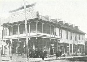 Pacific Hotel, long Shoreman's Hall 1902. Corner of Huron and Buler