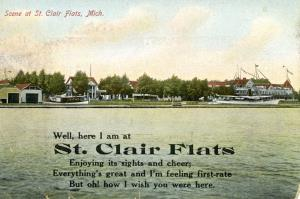 Possibly the Rushmere Club Harsens Island St Clair Flats. Sept 1912