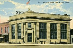 Michigan National Bank Building Military and Water. Now City Flats Hotel