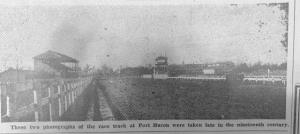 Race track at Port Huron late 1900's