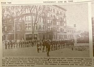 Port Huron Guards at Harrington Hotel 1897.Under the leadership of Captain Pettee.