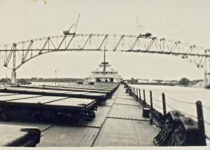 The Bluewater Bridge from a Ship's perspective. Circa 1937