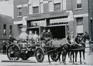 Engine House # 1 and its pumper. circa 1905