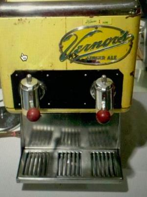 Famous Vernor's cooler at Diana's Sweet Shop. Opened for business in 1926 by Leo and Bill Deligianis. Closed in 2001