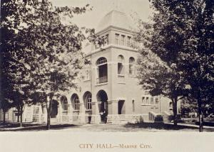 City Hall Marine City...still stands today.
