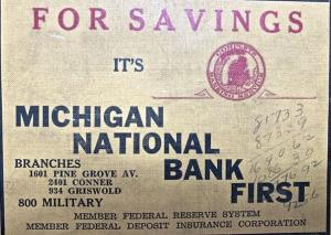 Founded in Lansing Mi. Dec 31st 1940 when Howard Stoddard consolidated 6 Michigan Banks