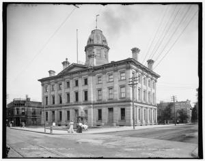 Federal Bldg at 6th and Water St early 1900's
