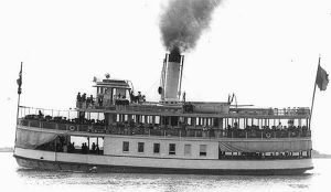Omar D Conger Ferry on the St Clair River. It exploded on March 26 1922 killing 4 crew members.